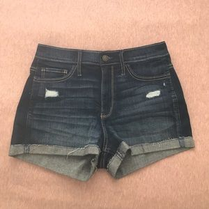 Hollister High Rise Denim Shorts